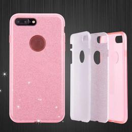 Hybrid Armor Luxe Glitter Power Bling 3 en 1 Tpu Dur PC Case Couverture Pour iPhone 5 5S 6 7 Plus iPhone7 Samsung S7 Edge S8 Note5 ? partir de fabricateur