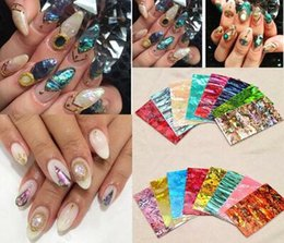 Wholesale Nail Art Stickers Japanese - 9 Color To Choose Hot Popular Natural Shells Japanese Style 3d Shell Sticker Nail Art Decoration Tools