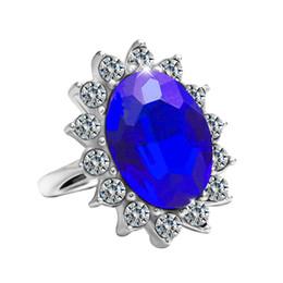 2019 joyería de diana Único 925 anillos de diamantes de plata esterlina anillos de compromiso de la princesa Kate piedras preciosas Príncipe Diana William zafiro anillos para las mujeres joyería joyería de diana baratos