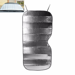 Wholesale Car Rear Window Sunshade - Wholesale- Car foldable Sunshade Sun shade Front Rear Window Film Windshield Visor Cover UV Protect Reflective Heat Cover Car-styling