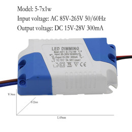 Wholesale Ac Current - Dimmer Driver 5-7x1W DC 15-28V 300mA 5W 6W 7W Constant Current AC 85-265V For Dimmable LED Ligh