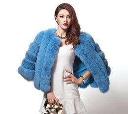 Wholesale Thick Black Female Models - Europe and the United States a new high -imitation fox fur furs splicing female models fur short paragraph