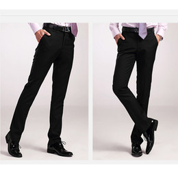 Wholesale Man Western Style Suits - Wholesale- new arrival men's clothing easy care western-style trousers male slim western-style trousers ,men suit pants ,dress pants