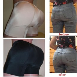 Wholesale Padded Hip Panties - 2017 New Butt and Hip Enhancer Booty Booster Boyshorts Removable Padded Pads Panty make you full Rounded Sexy Buttocks