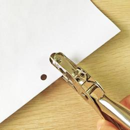 Wholesale Scrapbooking Sheets - Metal 6mm Pore Diameter Punch Pliers Single Hole Puncher Hand Paper Scrapbooking Punches 1-8 Sheets Paper Hole Puncher