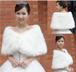 Wholesale Fur Coats China - 2017 Cheap Fake Faux Fur Cape Bridal Wraps Winter Coat Shrug Shawl Bolero From China