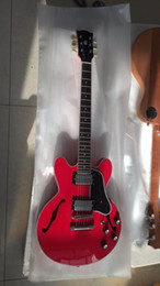 Wholesale Es Jazz Guitars - New Arrival Electric guitar Jazz ES Semi Hollow 335 model In Red 170106