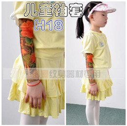 Wholesale Cheapest Tattoo - Cheap Children Carton Tattoo Sleeves Kids Tattoo Arm Sleeves Fake Tattoo Sleeves Body Art 200PCS Free shipping