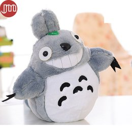 Wholesale Totoro Baby Pillow - New Miyazaki Hayao My Neighbor Totoro Plush Dolls CATBUS Baby Toys Anime Pillow Ha yao Cartoon Plushie Figures 3 Size Collection