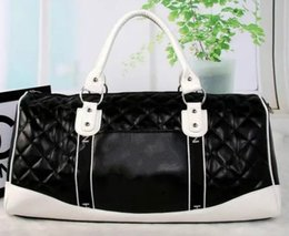 Wholesale Womens Extra Large Handbags - 2017 top quality High capacity womens mens 55cm travel bag duffel bag shoulder bag handbags