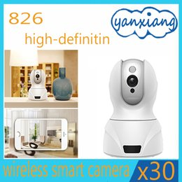 Wholesale Wholesale Mini Wireless Color Camera - 30pcs Home Security IP Camera Wireless Mini IP Camera Surveillance Camera Wifi 826 Night Vision YX-826-02