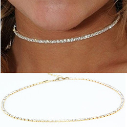 Wholesale Trend Fashion Vintage Choker - Wholesale- 2017 Trend NEW FASHION Vintage Classic Choker Necklace Full Crystal Pendant Necklace For Women Girl Gift Statement X186