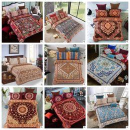 Wholesale Queen Quilts Bedding - 24 Styles 3D Bedding Sets Queen Size Bohemian Mandala Bedding Quilt Duvet Cover Set Sheet Pillow Cover 4pcs Bedding Set Gifts CCA8082 10set