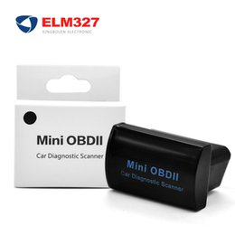 Wholesale Elm327 Obd Bluetooth - Super Mini OBD II Elm 327 Bluetooth On Android Phone PC Elm327 V2.1 adapter diagnostic-tool BT interface
