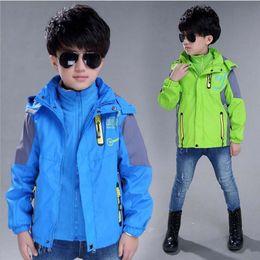 Wholesale Turtleneck Jacket Boys - Children Outerwear Warm Fleece Coat Sporty Kids Clothes Detachable Waterproof Windproof Thicken Boys Jackets Winter and Autumn