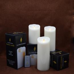 Wholesale paraffin lamps - Luminara Classic led candle Flameless Pillar 3pcs per set for Wedding,Party,Home decoration
