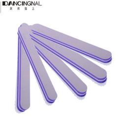 Wholesale Gel For Nails Kit - Wholesale- 5 Piece Set Purple Nail Art Files Buffing Styling Sanding Tips Decoration For Salon DIY Manicure UV Gel Polish Care Tools Kits