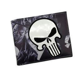 Wholesale Iron Card - Wholesale- Wholesale Comics Wallet Purse Punisher Iron Man Venom Thor Cartoon Wallet With Card Holder Free Shipping