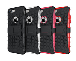 Wholesale Heavy Bag Cover - Heavy Duty Cover Hard Armor Hybrid Kickstand Case Skin Shock Phone Bags For Iphone 4 5 5s 6 6S Plus 7 7plus