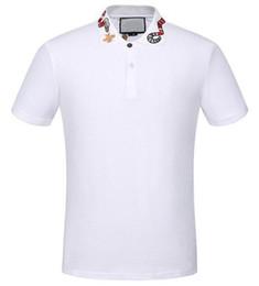 Top Express Blanc Solide Polo Shirt Serpent Abeille Polos Casual Pour Hommes T-shirts Tops Haute Qualité Coton Noir M-XXXL ? partir de fabricateur