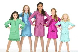 pageant interview dresses for girls Promo Codes - Formal GirlsBest Selling Girl's Kids Custom Made Ruffles Taffeta Formal Dresses for Kids Beauty Pageant Interview Suit Interview suit