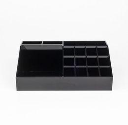Klasik Akrilik Siyah Ruj Çok Fonksiyonlu Ekran Standı Kozmetik Organizatör Aksesuarları Saklama Kutuları Hediye Kutuları nereden