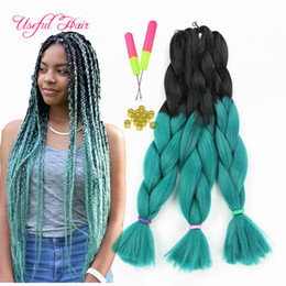 613 hair color braid Coupons - three tone four tone Ombre color 24inch JUMBO BRAIDS SYNTHETIC braiding hair extensions crochet braids hair croceht hooks for braided hiar