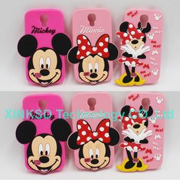 Wholesale Silicon Case Galaxy S3 - Silicon TPU Soft Cover Case Minnie Mickey Mouse Cell Phone Case For Phone Samsung Galaxy S3 I9300 S4 I9500 S5 I9600