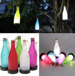 Wholesale Hanging Solar Lights For Garden - 2017 Cork Wine Bottle LED Solar Powered Sense Light Outdoor Hanging Garden Lamp For Party Courtyard Patio Path MYY