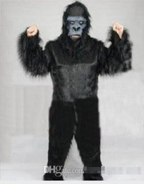 Wholesale Character Suits Mascots - 100% real images Black gorilla Mascot Costume Adult Size Cartoon Character Carnival Party Outfit Suit Fancy Dress