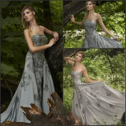 c99fc010947d abiti di raso formali grigi Sconti Fashion Arabesco Dubai Robe De Soiree  2017 New Silver Grey