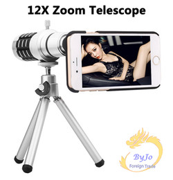 Wholesale Case For S4 Zoom - 12X Optical Zoom Telescope Camera lens kits magnifier with tripod+back case for samsung I9300 I9500 S4 s5 S6 S6edge+iPhone6 6S 6P 6SpPlus