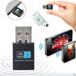 Wholesale Usb Adapter N - 300m 802.11n g b T Mini USB wireless network card WiFi signal transmitter receiver desktop WLAN USB Adapter wireless wifi n network card