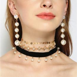 Wholesale Punk Multilayer Chain Necklace - Multilayer Choker Collar Necklaces For Women Pendant Necklace Fashion Girls Punk Gothic NE673