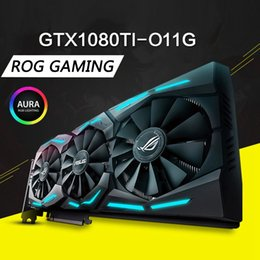 Wholesale ASUS ROG STRIX GTX1080Ti O11G GAMING Overclocking Raptor Graphics Card Republic Of Gamers Game Desktop Computer Super Graphics Card King