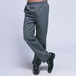 Wholesale Mens Work Cargo Pants - Chef Uniform Restaurant Pants Kitchen Pants Chef Trouser Chef Pants Elastic Waist Bottoms Food Service Mens Work Wear UC0009