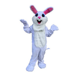 Wholesale White Easter Bunny Costume - White Easter Bunny Mascot cartoon, factory physical photos, quality guaranteed, welcome buyers to the evaluation and cargo photos