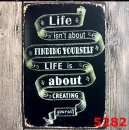 2019 bebiendo pintura de bar Eco Friendly 20 * 30cm Poesía Carteles de chapa retro pared del arte retro del arte muestra del Pub del club Decoración CM metal Poster Sticker
