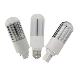 Wholesale G24 Pl - E27 B22 G23 G24 LED corn light bulb SMD2835 Horizontal Plug lights 360 led lamps 9W 12W 15W 18W PL lamp replacement AC85-265V