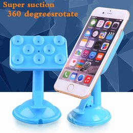 Wholesale Mobile Specials - 8 point suction cup type mobile phone bracket Special GPS navigator, 360 degree rotation multifunctional universal base Phone Holder ExtenD