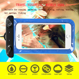 Wholesale High End Mobile Phone Cases - High - end touch screen smart transparent outdoor swimming diving mobile phone waterproof bag for iPhone samsung waterproof phone sets