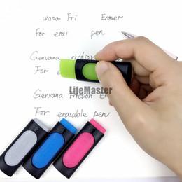 Wholesale Pilot Pens - Genvana Friction Ink Eraser for Erasable pen Rubber 50mm*20mm with plastic case Cheaper than Pilot (Frixion) erasable