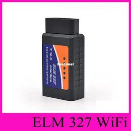 Wholesale Wireless Obd2 - NEW ELM327 Wifi Scanner Auto OBD2 Diagnostic Tool ELM 327 WIFI OBDII Scanner V1.5 Wireless For Both Android IOS Vehicle Detection Instrument