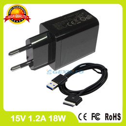 Wholesale tablets asus transformer pad - Wholesale- 15V 1.2A Tablet pc charger For Asus Eee Pad Transformer TF101 TF101G TF300 TF301 TF201 TF300T Wall Adapter ADP-18BW A EU plug