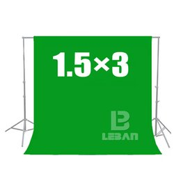 Wholesale 3m Photo Backdrop - Wholesale- 150cm x 300cm Green Screen Chroma key 1.5 x 3M Background Backdrop for Studio Photo lighting