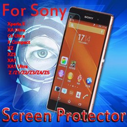 Wholesale Screen Protector For Xperia Z - Tempered Glass Film For Sony Xperia X Compact XZ XZS XA1 Ultra Z Z1 Screen Protector For Sony Xperia XA2 Ultra XZ2 Protective Film