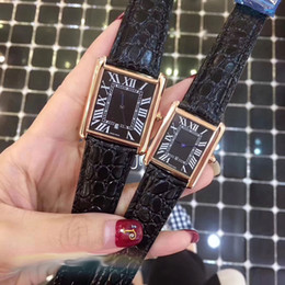 Wholesale Mens Dress Watches Leather Strap - AAA Lovers men women watches couple dress luxury brand Genuine Leather strap quartz watch for mens ladies Valentine Gift wristwatches 2018