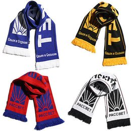 Wholesale Scarves Red White Blue - Brand New Designer Unisex Palace Skateboard Gosha Rubchinskiy Russia Paccbet Soft Cotton Knitted Scarf Unisex Scarves Wraps
