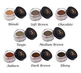 Wholesale Hot Blondes - HOT Eyes Pomade Medium Brown Eyebrow Enhancers Waterproof Makeup Eyebrow 4g Blonde Chocolate Dark Brown Ebony Auburn Medium Brown TALPE