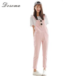 42688245a5a Wholesale- 4 Colors Denim Jumpsuit 2017 Korean Preppy Style Fashion Pocket  Womens Jeans Jumpsuit Girls Casual Denim Overalls Skinny Women